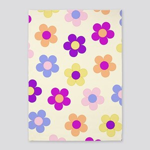 Flower Power Vertcal Design 5'x7'area Rug