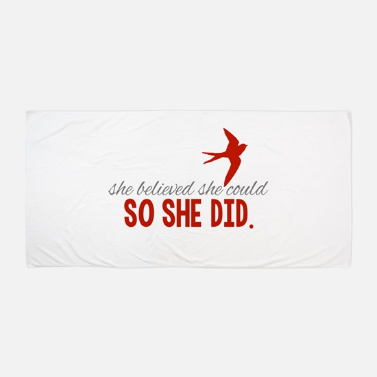 She Believed She Could Beach Towel