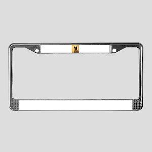 halloween dutch shepherd License Plate Frame