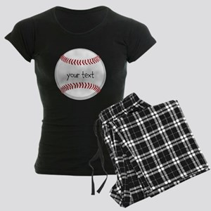 Baseball Women's Dark Pajamas
