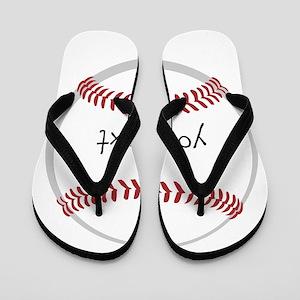 96434b0eb82433 Baseball Flip Flops - CafePress