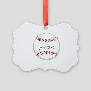 Baseball Picture Ornament