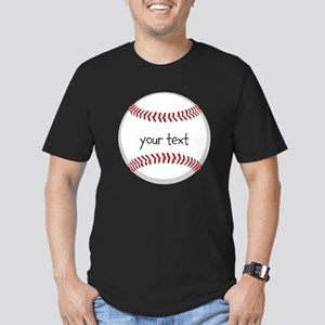 Baseball Men's Fitted T-Shirt (dark)
