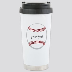 Baseball Stainless Steel Travel Mug