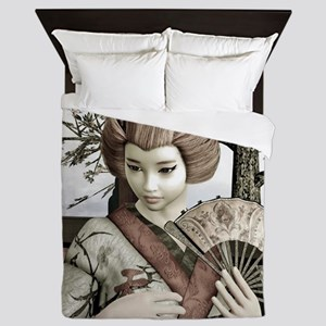 Vintage Geisha Queen Duvet