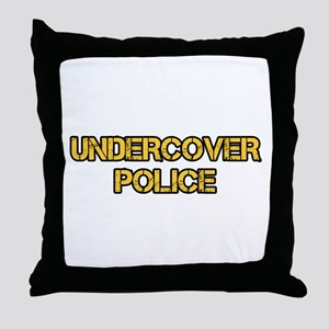 UNDERCOVER POLICE Throw Pillow