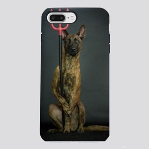 Dog with fork iPhone 7 Plus Tough Case