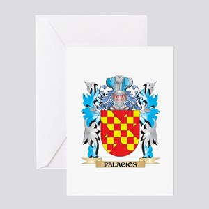 Palacios Coat of Arms - Family Cres Greeting Cards