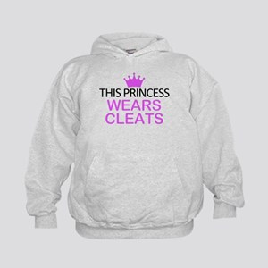 This Princess Wears Cleats Kids Hoodie