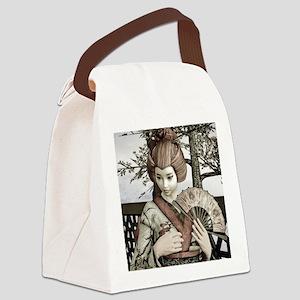 Vintage Geisha Canvas Lunch Bag