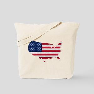American Flag Map Tote Bag