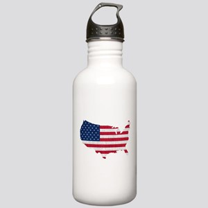 American Flag Map Stainless Water Bottle 1.0L