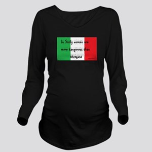 In Sicily Long Sleeve Maternity T-Shirt