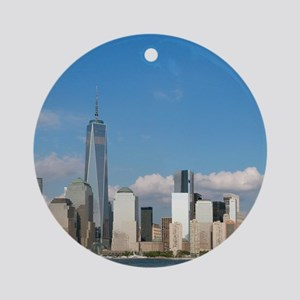 Stunning new New York City skylin Ornament (Round)