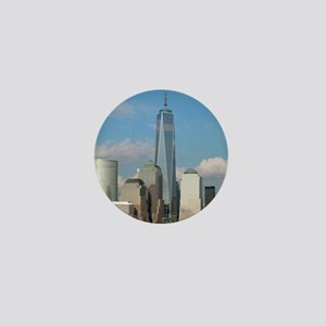 Stunning new New York City skyline Mini Button