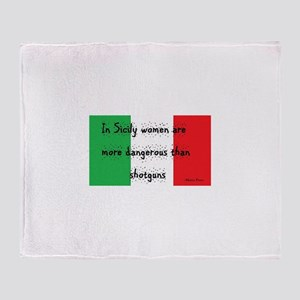 In Sicily Throw Blanket