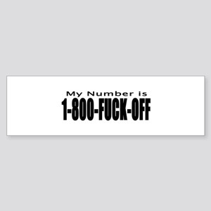 My 1800-# Bumper Sticker