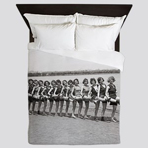 Bathing Beauties, 1923 Queen Duvet