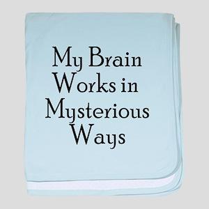 Mysterious Brain baby blanket