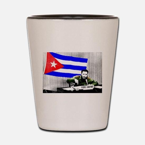 President Fidel Alejandro Castro Ruz Cu Shot Glass