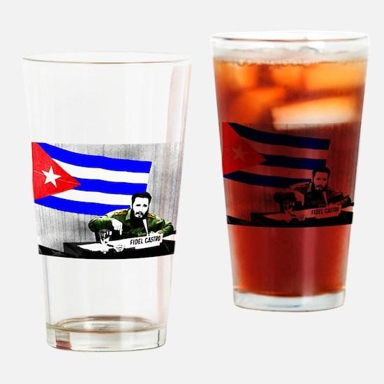 President Fidel Alejandro Castro Ru Drinking Glass