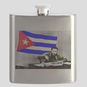 President Fidel Alejandro Castro Ruz Cuba Co Flask