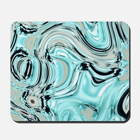 abstract turquoise swirls Mousepad