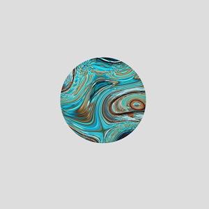 rustic turquoise swirls Mini Button