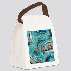rustic turquoise swirls Canvas Lunch Bag