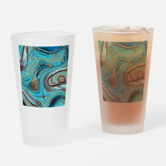 rustic turquoise swirls Drinking Glass