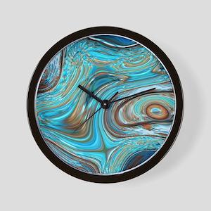 rustic turquoise swirls Wall Clock