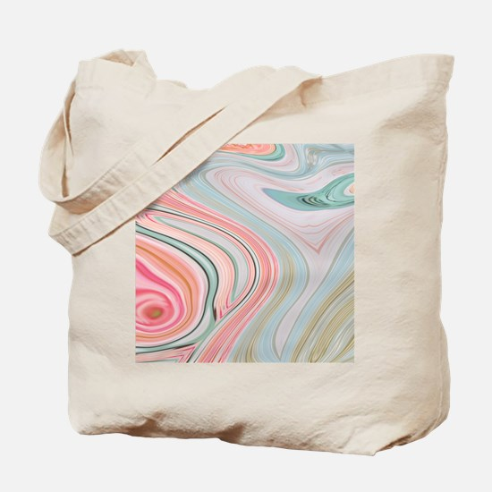 girly coral mint pattern Tote Bag