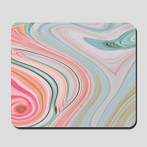 girly coral mint pattern Mousepad