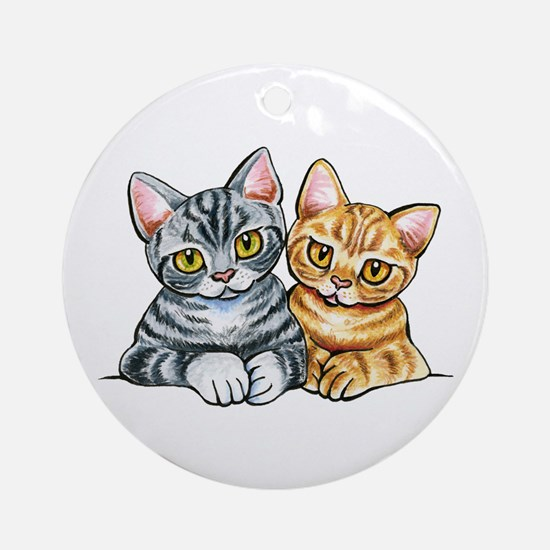 2 American Shorthair Ornament (Round)