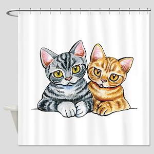 2 American Shorthair Shower Curtain