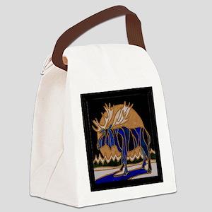 Winter moose Canvas Lunch Bag