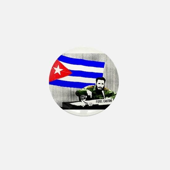 President Fidel Alejandro Castro Ruz C Mini Button