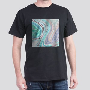 girly turquoise blue swirls T-Shirt