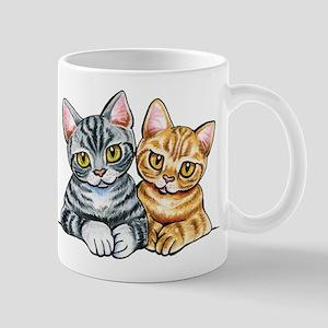 2 American Shorthair Mugs