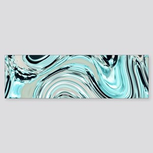 abstract turquoise swirls Bumper Sticker