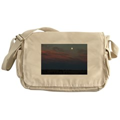 Prairie Moon With Clouds Messenger Bag