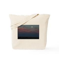 Prairie Moon With Clouds Tote Bag