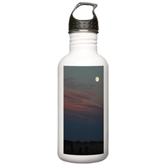 Prairie Moon With Clouds Water Bottle