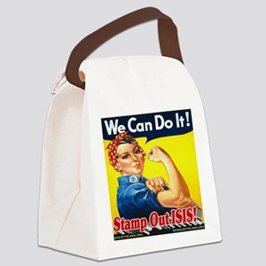 We Can Do It! Stamp Out ISIS! Canvas Lunch Bag