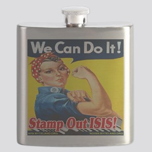 We Can Do It! Stamp Out ISIS! Flask