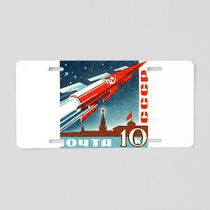 Sputnik Soviet Union Russia Aluminum License Plate