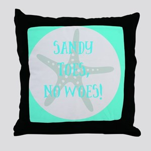 Sandy Toes, No Throw Pillow