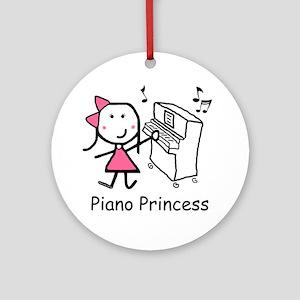 Piano - Princess Ornament (Round)