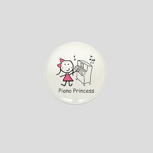 Piano - Princess Mini Button