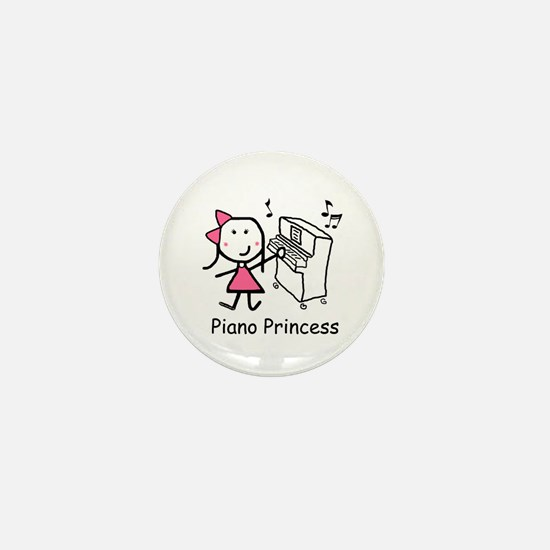 Piano - Princess Mini Button